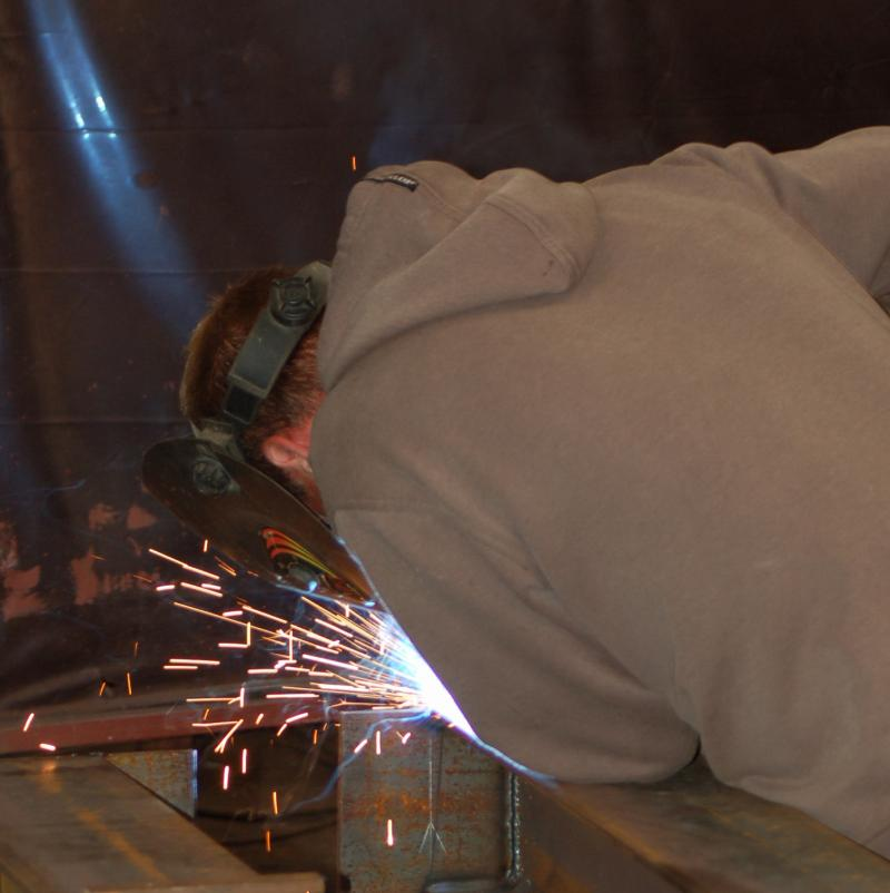 Workshop welding at Island Structural Steel Fabricators